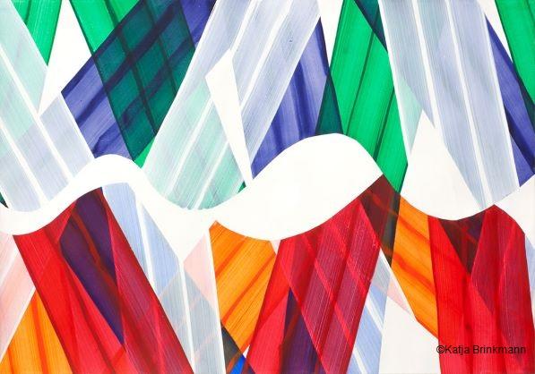 Papierarbeit Farbbänder von Katja Brinkmann