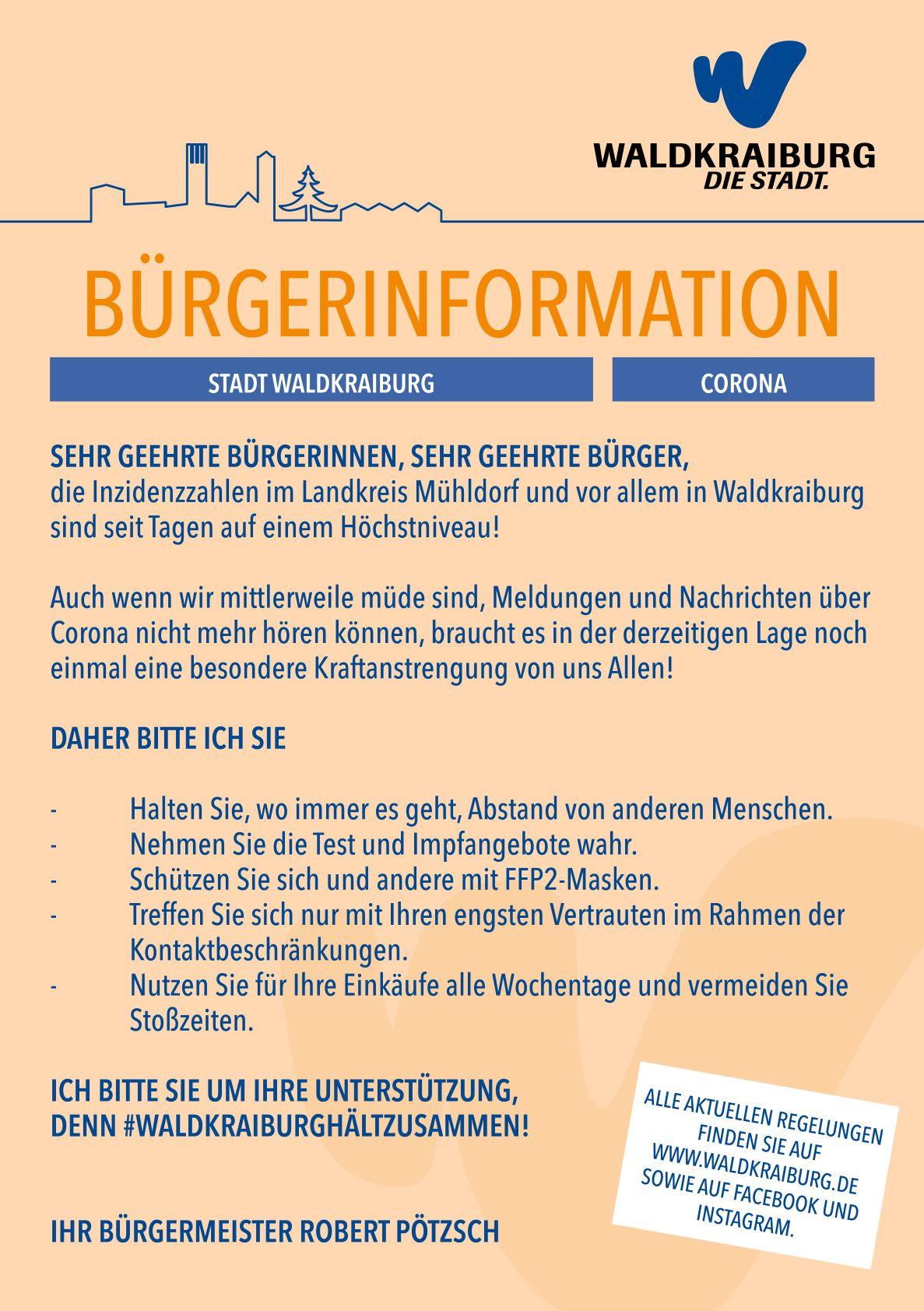 Flyer Bürgerinformation Corona