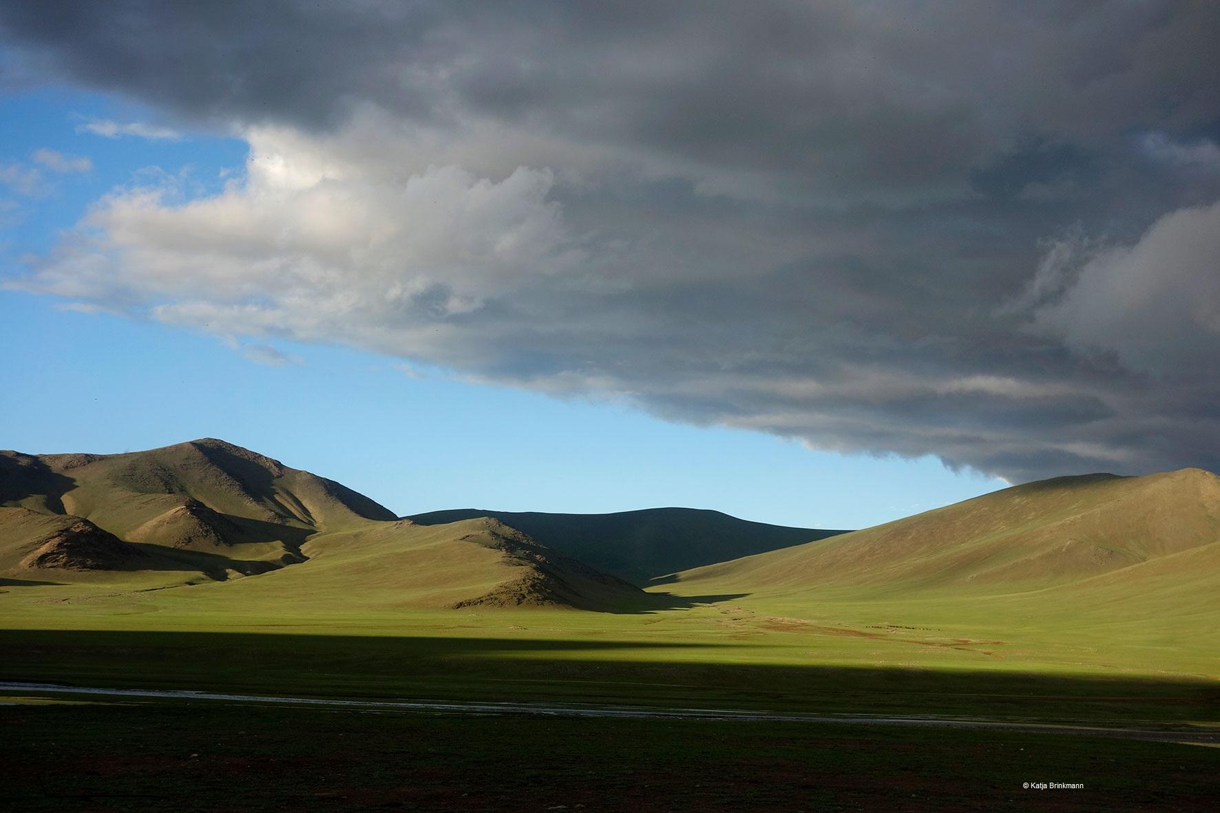 Landschaft in der Mongolei, von Katja Brinkmann, August 2018