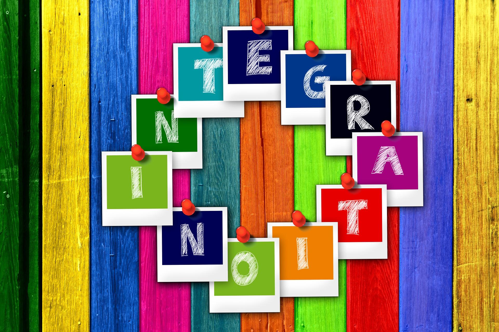 Symbolbild Asyl, auf dem das Wort Integration steht