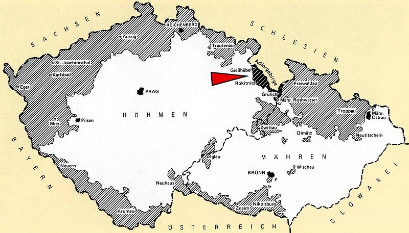 Karte Patenschaft Adlergebirge