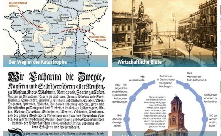 Ausstellungsfoto der Ausstellung Deutschen aus Russland : Klick öffnet eine vergrößerte Ansicht