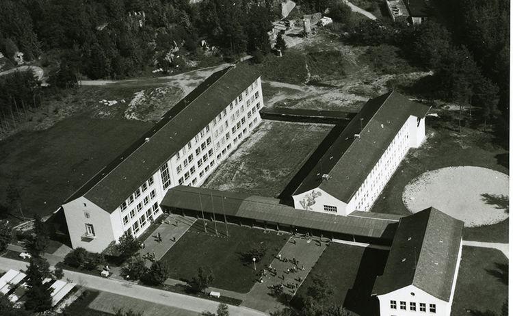 Luftbild Schulzentum Dieselstrasse 1958