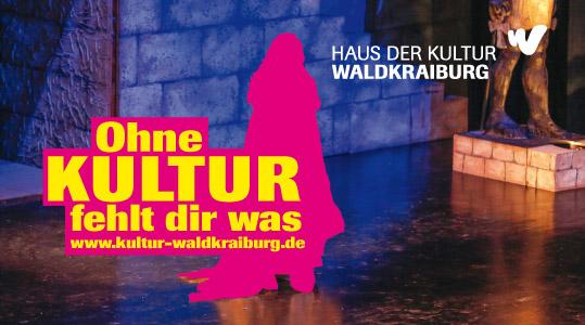 Logo Ohne Kultur fehlt dir was in pink