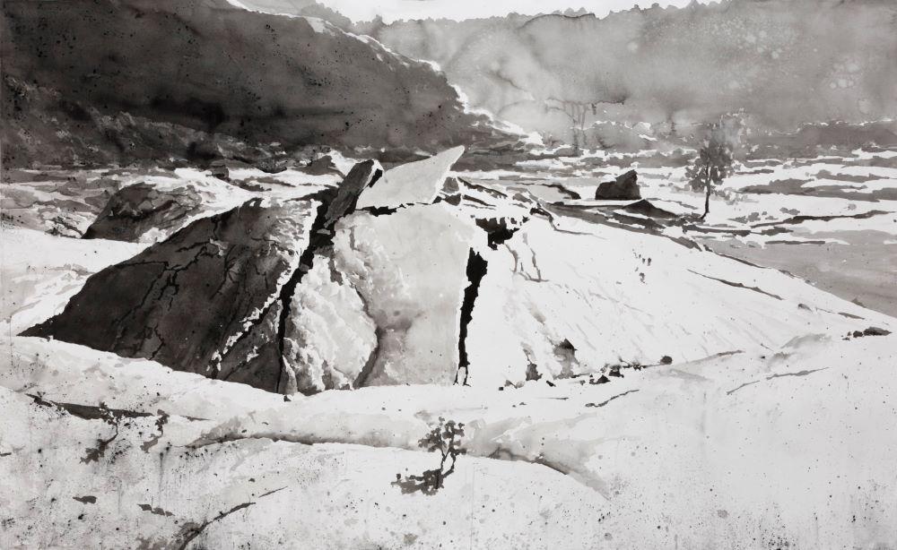 Ausstellungsfoto Bloße Landschaft