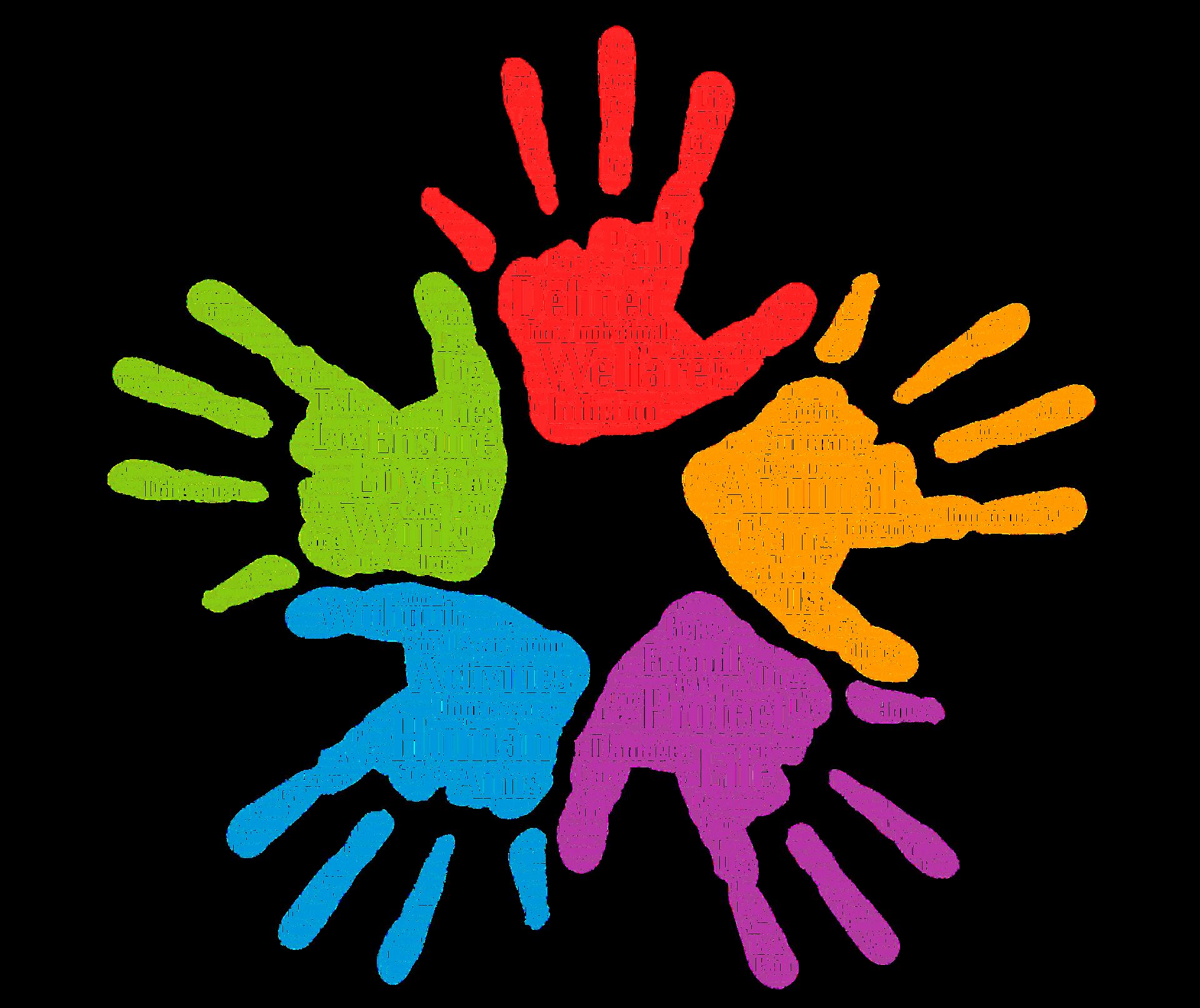 Symbolfoto Ehrenamt das Hände in verschiedenen Farben zeigt